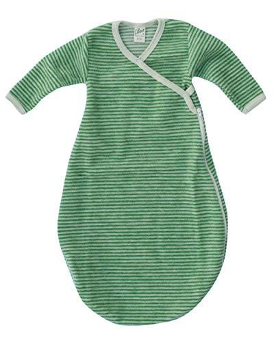 Lilano, Baby Wickelsack Flausch, 100% Wolle (kbT) (74-80, Grün/Natur)