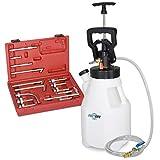 FIRSTINFO 12.5L Sistema di Ricarica pneumatica/Manuale ATF Dispenser Automatico del Sistema di distribuzione del di Olio Fluido e Pompa del Fluido con adattatori di Ricarica ATF a 15 Pezzi