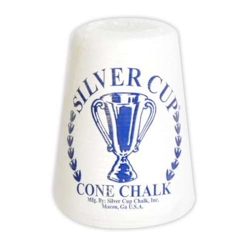 Silver Cup Hathaway Cone Talc Chalk, White