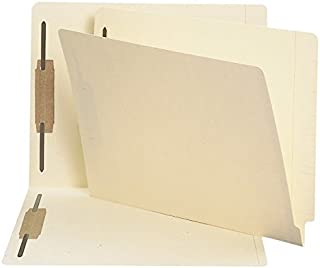 Smead End Tab Fastener File Folder, Shelf-Master Reinforced Straight-Cut Tab, 2 Fasteners, Letter Size, Manila, 250 per Bo...