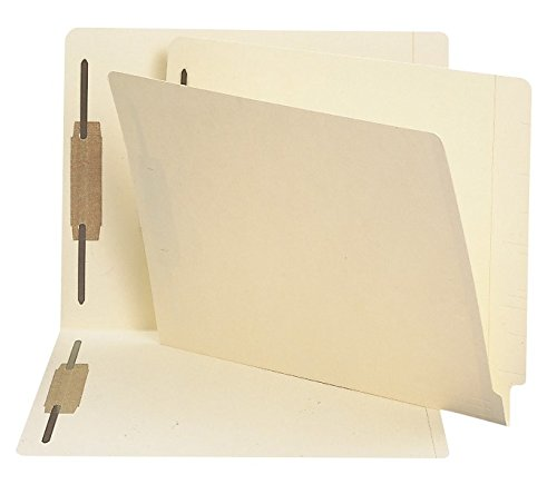Smead End Tab Fastener File Folder, Shelf-Master Reinforced Straight-Cut Tab, 2 Fasteners, Letter Size, Manila, 250 per Box (34125)