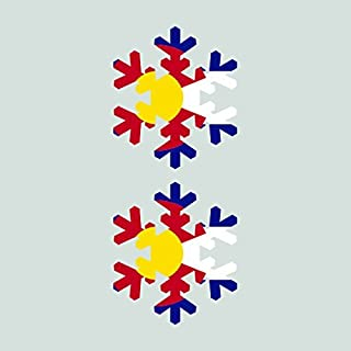 Two Pack Colorado Snowflake Sticker Vinyl Decal Sticker CO Snow Flake Snowboard Skiing skii Made in USA