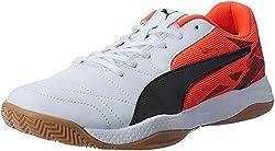 PUMA unisex adult Veloz Indoor III indoor shoes, red (Red Blast-White-Black 01), 41 EU