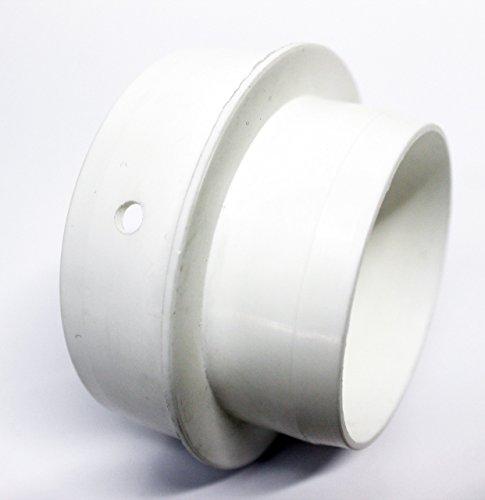 Réducteur de tuyau d'évacuation de 80 mm pour une utilisation avec un tuyau de 100 mm.
