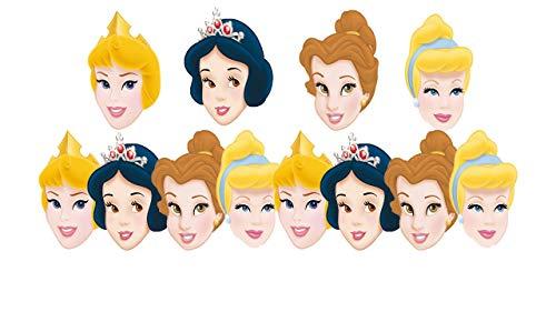 ALMACENESADAN 0558, Pack 12 caretas Disney Princesas, para Fiestas y cumpleaños