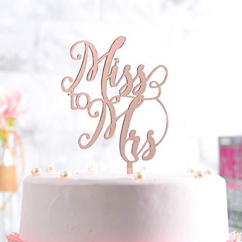 Miss to Mrs Cake Topper Wedding Decoration, Wedding Bride Party Supplier,Bridal Shower Cake Decoration