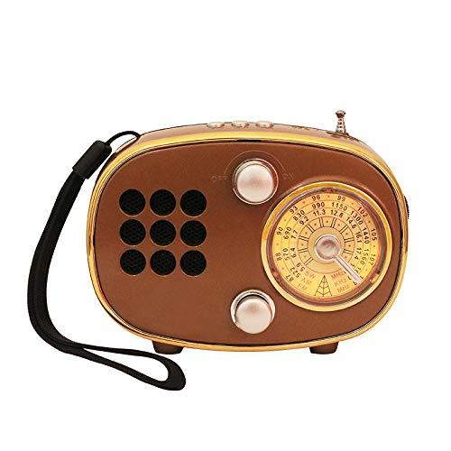 Radio Altavoz Bluetooth Tarjeta Recargable portátil Puntero multibanda Regalo multifunción-Dorado
