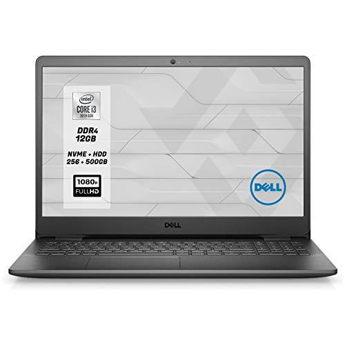 Portátil Dell Vostro PC portátil CPU Intel i3 10Th, pantalla FHD 15.6' RAM 12GB Ddr4 SSD M.2 256GB NVMe + HDD 500 Gb,HDmi,Wi-Fi fi,Bluetooth,Windows 10 Professional