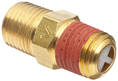 """Control Devices Brass Ball Check Valve, 1/4"""" NPT Male from Control Devices"""