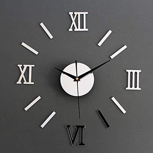 Wanduhr Modernes Design der großen Hauptdekoration Wanduhr 3D DIY große Dekoration Wanduhr Uhr Wandaufkleber Mode 27inch E.