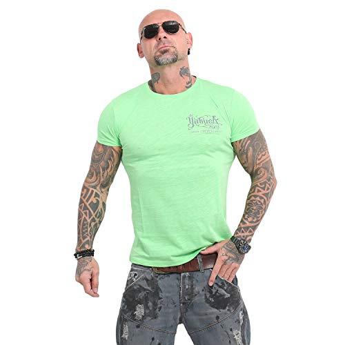 Yakuza Herren Never Stop Label T-Shirt -> Summer Green, 5XL