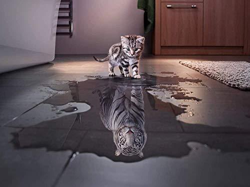 NIID 1000 Stücke Katze und Tiger Puzzle Kreative Schwierige Große Puzzle Pädagogisches Stressfreisetzung Spielzeug für Erwachsene