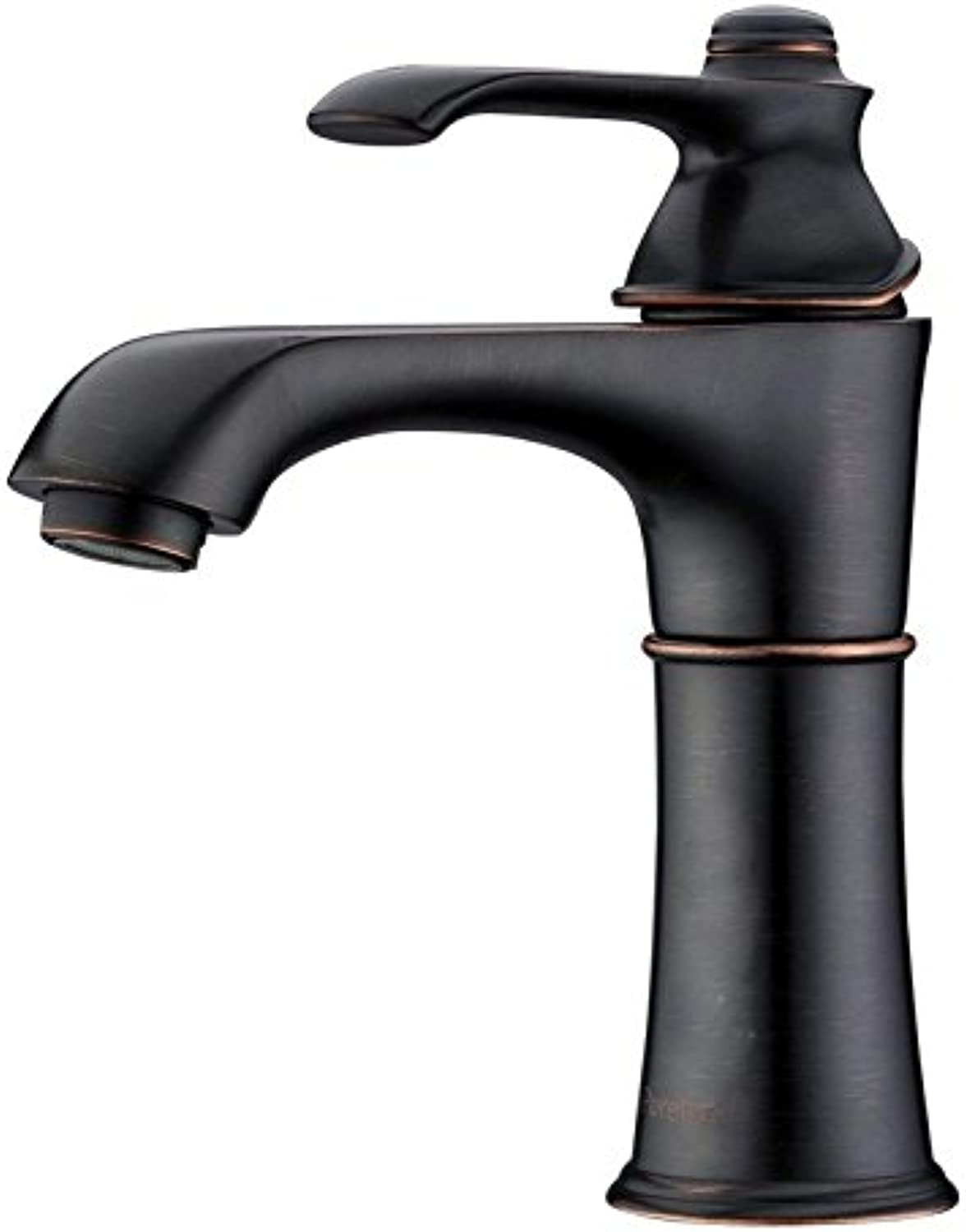 Classic Deck Mount Bathroom Vessel Sink Faucet Single Lever Control Tall Spout Mixer Tap, Oil Rubbed Bronze Finish 10 Year Warranty,A
