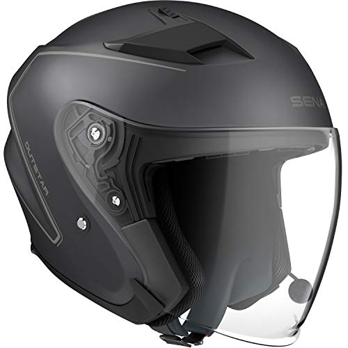 Sena OUTSTAR-MB0XL Smart Helm, Schwarz, XL