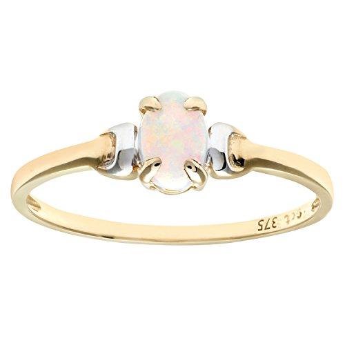 Citerna Damen-Ring 9 K Bicolor Opal