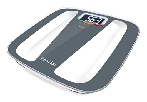 Terraillon Color Coach Quattro, Electronic Bathroom Scale, 4 User Memories, Colour Weight Variation, Automatic on/Off, 350 lb / 160 kg, Grey/White