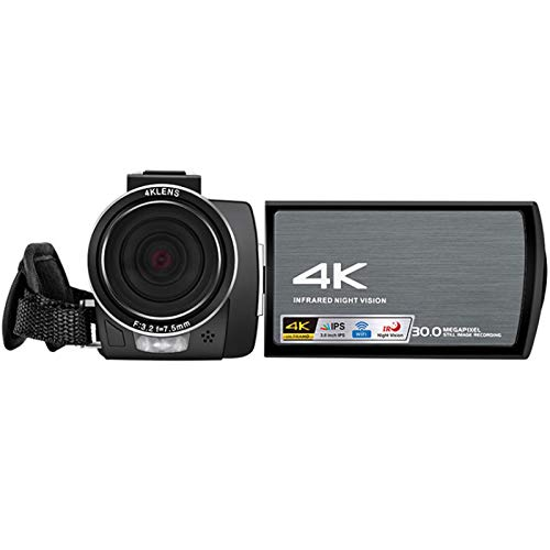 0℃ Outdoor Camcorder Video Camera HD 4K Digital Vlogging Camera 30MP Self-Timer Camcorder with Remote Control Microphone and Webcam Function, Recoding and Multimedia Storage, Best Decision