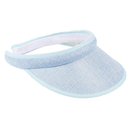 KUDICO Sonnenhut Unisex Sommer Visor Sun Hat UV-Schutz Schirmmütze Visoren Hüt Outdoor Einstellbare Sport Tennis Golf Cap (Himmelblau, One Size)
