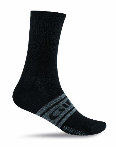Giro Fahrradsocken Merino Wool Seasonal Socken, Black/Charcoal Clean, L
