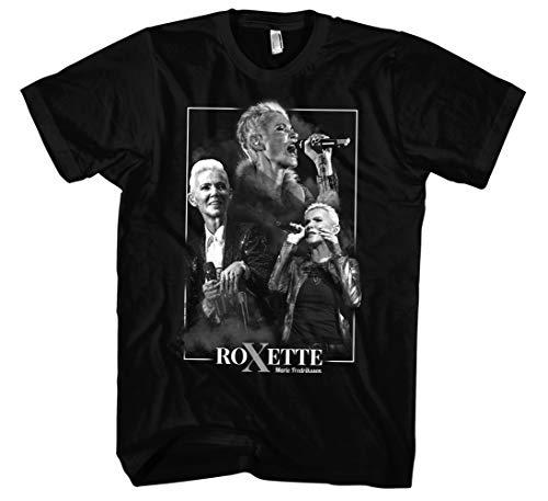 Never Forget Marie T-Shirt Herren | 80er Shirt Herren - Roxette Shirt - Musik Shirts Männer (Schwarz/Druck: Weiß, L)
