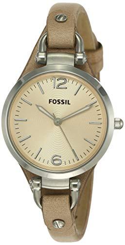 Fossil Reloj Analogico para Mujer de Cuarzo con Correa en Piel ES2830
