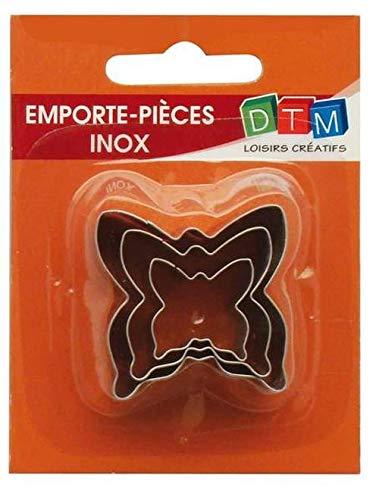 DTM 3 Mini formine per Biscotti a Forma di Farfalla in Acciaio Inox