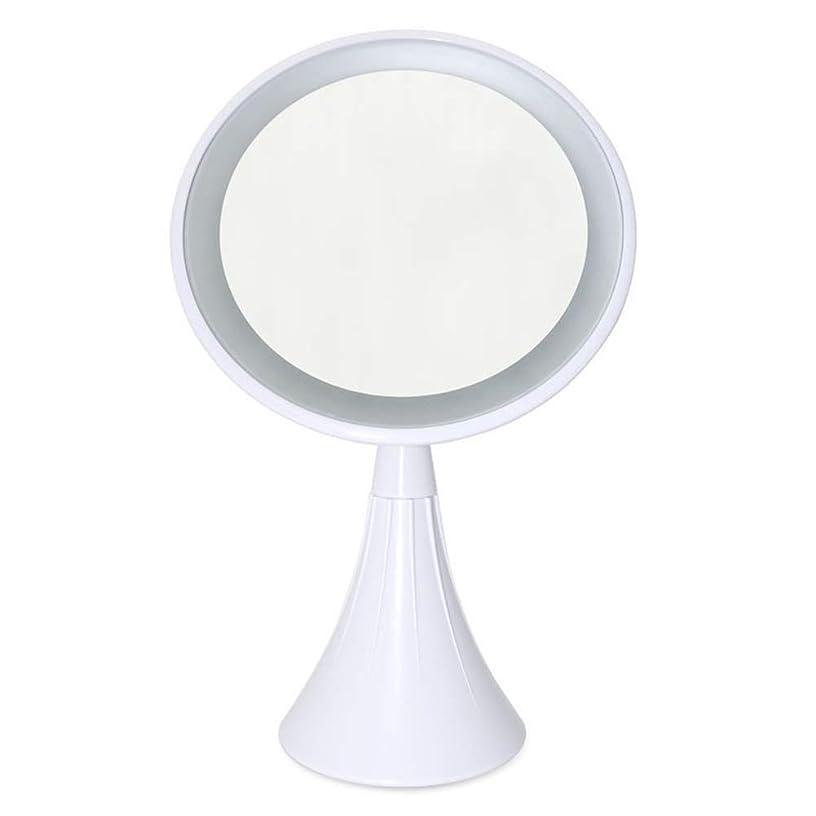 彫刻家変わる姓GEABQJ LED化粧鏡 フィルライト顕微鏡 拡大鏡 デスクトップ USB充電 360°回転、 20x16x37cm (Color : White, Size : A)