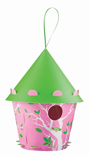Group DIY Bird House - Pink Cone Branch Design