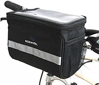 Bike Bicycle Handlebar Bag Front Tube Pannier Rack Bag Basket