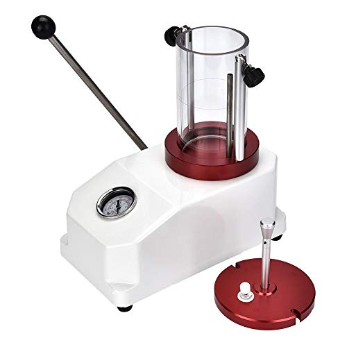 Dioche - Reloj comprobador de presión, cilindro transparente para una observación fácil, tamaño: 24 x 14,5 x 27,5 cm