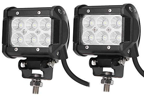 Leetop 2X 18W LED 6000K DC 12V 24V Arbeitslicht Offroad Flutlicht Reflektor Scheinwerfer Arbeitsscheinwerfer für SUV UTV ATV IP67