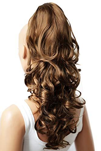 PRETTYSHOP Voluminosa corrugado peluca peluca trenza cola de caballo Cola de caballo fibra sintética 60cm marrón medio H13