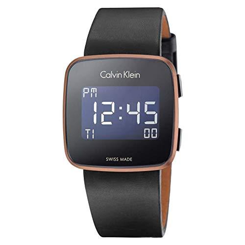 Calvin Klein Reloj Hombre de Digital con Correa en Cuero K5C11YC1