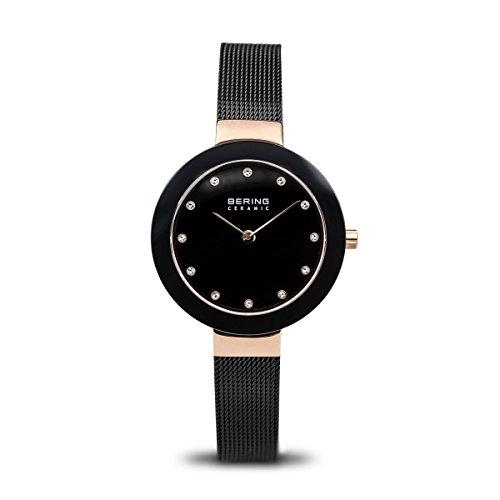BERING Damen-Armbanduhr Analog Quarz Edelstahl 11429-166