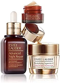 Estee Lauder Advanced Night Repair Synchronized Recovery Complex II, 1 oz, Eye Supercharged Complex .17 oz. Revitalizing Supreme+ 0.5 oz, Set