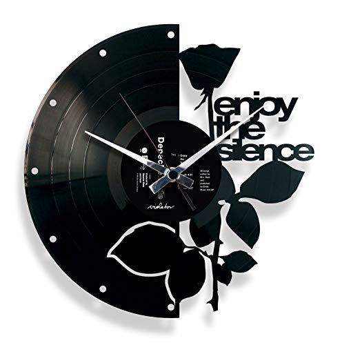 Disc'O'Clock Wanduhr aus Schallplatten LP 33 leise Enjoy The Silence, Geschenkidee im Design Depeche Mode