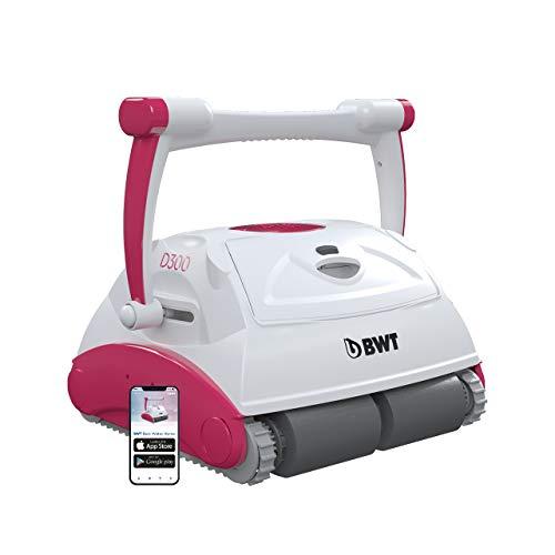 BWT Pool-Roboter D300 APP | Optimale Reinigung für Boden, Wand & Wasserlinie | Beste Filterleistung & Zügige Reinigung | App-Steuerung | Einfach zu reinigender Pool-Sauger