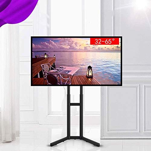 Portable TV Stand Floor Standing - Past 32 en 70 inch televisie, in hoogte verstelbare telescopische paal en for binnen en buiten gebruik, 45 Lbs