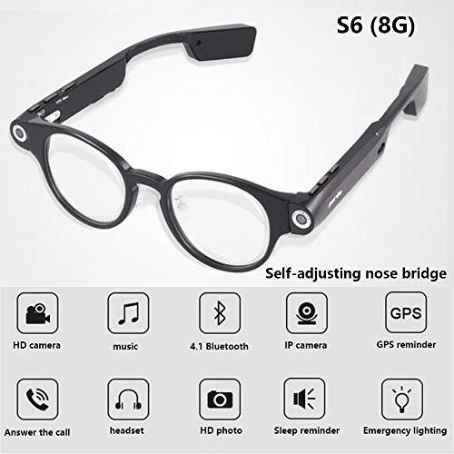 RENYAYA Deporte al Aire Libre DV Bluetooth Headset Gafas de Sol Inteligentes Gafas de Ojo portátil Mini cámara HD 720P grabadora de vídeo 8GB o 32GB Coche DVR,8G