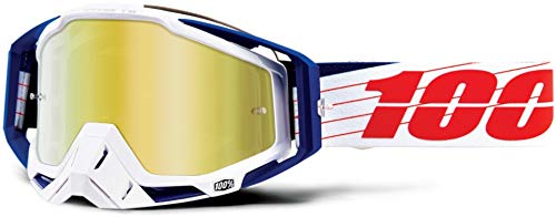 100% Racecraft Anti Fog Mirror Lunettes de Protection, bibal/White