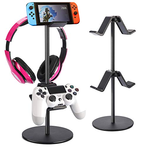 Controller Holder, fes Game Controller Stand Holder Storage Organizer Gamepad with Multiple Adjustable Height and Direction Brackets Compatible for Xbox ONE 360 Switch PS4 (White)