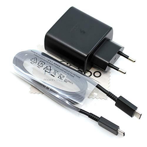 Cargador para Samsung EP-TA845 45W para Samsung Galaxy S20 Ultra S20 Ultra 5G S10 Lite Note 10 Note 10 Plus Tab S7 Tab S7 Plus Power Delivery Cable carga con paño de limpieza de pantalla Mungoo