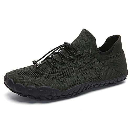Fnho Botas de montaña Deportivas,Zapatos de Senderismo al Aire Libre,Zapatos de Senderismo para montañismo al Aire Libre, par de Zapatos de Playa-Armygreen_41
