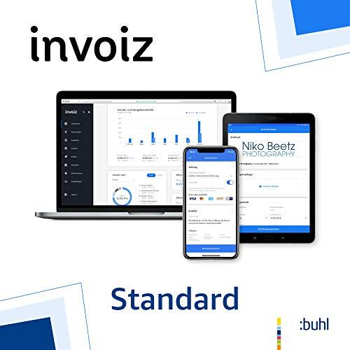 invoiz - Das Finanz- und Rechnungsprogramm für Selbstständige | Standard: bis EUR 240.000 Jahresumsatz | Web Browser | Subscription (Nur Deutschland)