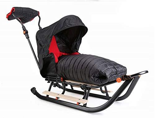 Premium LINE Plus Kinderschlitten Babyschlitten, Fußsack - 3-in-1- Kinderschlitten mit Rädern und Muff - Verschiedene Modelle (Modell: PLP291804177)