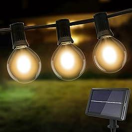 Guirlande Guinguette Exterieur Solaire, Litogo G40 Guirlande Lumineuse Exterieure Guinguette Exterieur 25 Ampoules LED 4…