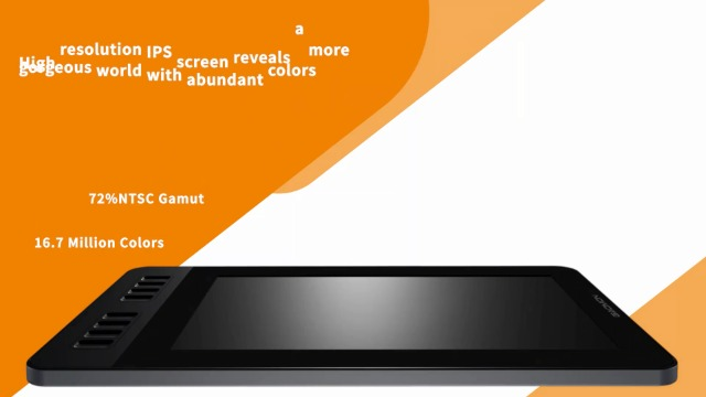 GAOMON PD1161 11.6 Inches HD IPS Tilt Support Graphics Drawing Pen Display with 8 Shortcuts and 8192 Levels Battery-Free AP50 Stylus