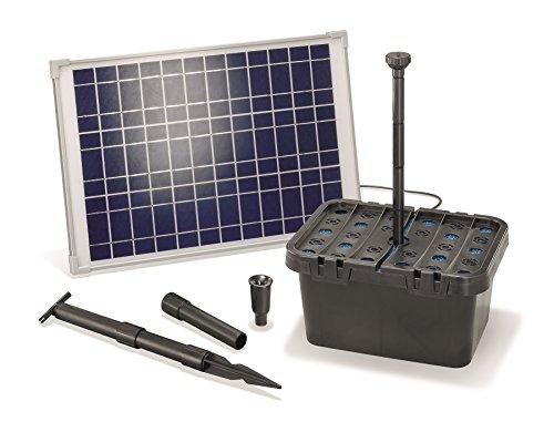 Solar Teichfilterset Starter 1300 l/h Förderleistung 20 W Solarmodul Komplettset bis 4000l Gartenteich 101067