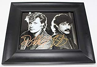 Hall & Oates H20 Maneater Daryl Hall John Oates Signed Autographed B/W 8x10 Glossy Photo Gallery Framed Loa