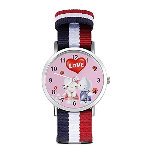 Los relojes de Hello Cartoon Kitty son impermeables, versátiles, informales, estudiantes, hombres, mujeres, deportes, moda y temperamento simple anime dibujos animados